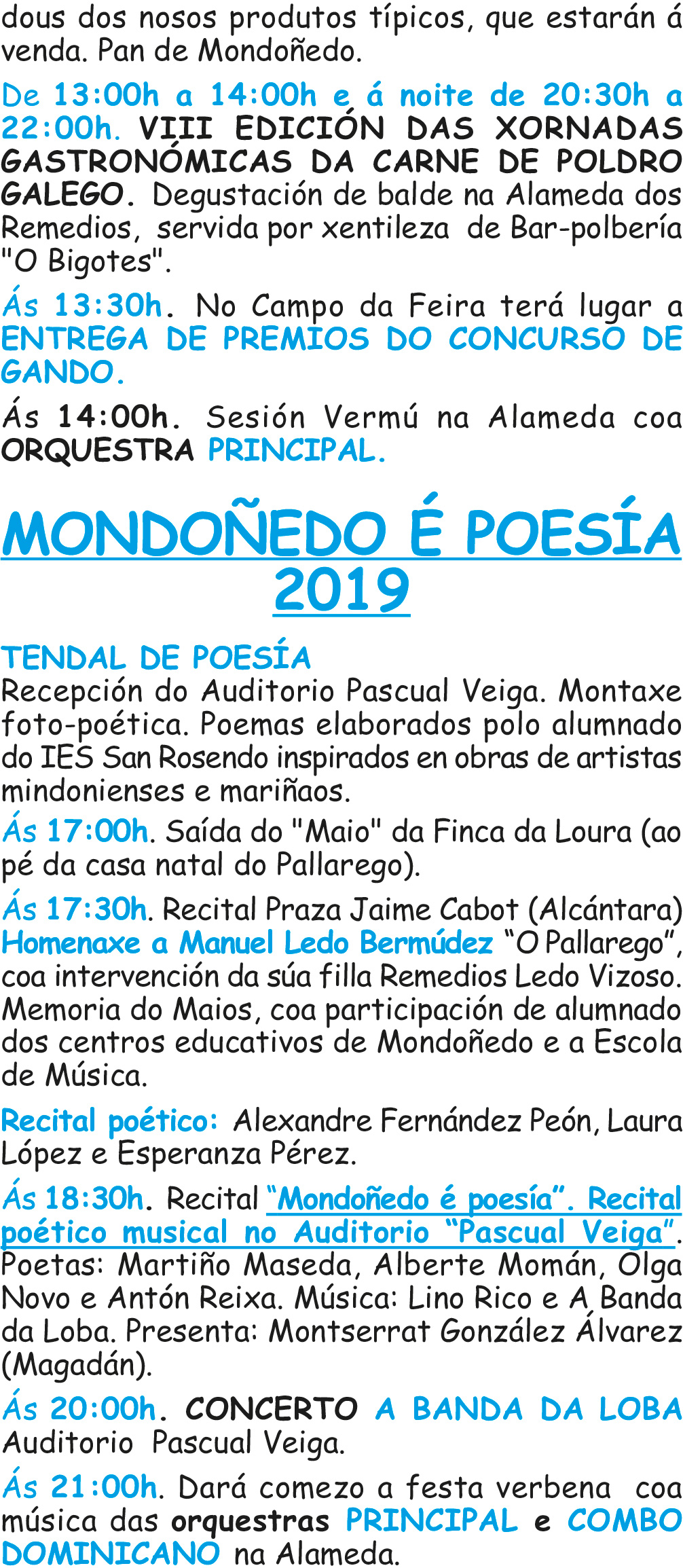 Programa As Quendas 2019 3
